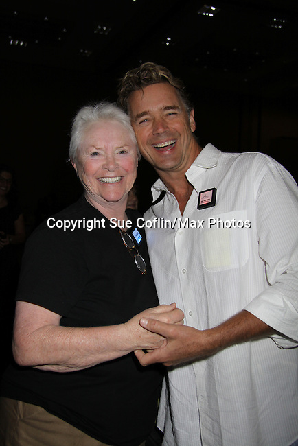 Susan Flannery & John Schneider at the gifting suite at the 38th Annual Daytime Entertainment Emmy Awards 2011 held on June 19, 2011 at the Las Vegas Hilton, Las Vegas, Nevada. (Photo by Sue Coflin/Max Photos)