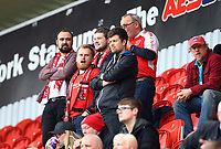 Fleetwood Fans during the Sky Bet League 1 match between Rotherham United and Fleetwood Town at the New York Stadium, Rotherham, England on 7 April 2018. Photo by Leila Coker.