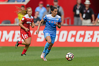 Bridgeview, IL - Saturday June 17, 2017: Christen Press during a regular season National Women's Soccer League (NWSL) match between the Chicago Red Stars and the Washington Spirit at Toyota Park. The match ended in a 1-1 tie.