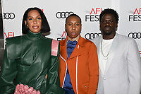 """14 November 2019 - Hollywood, California - Melina Matsoukas, Lena Waithe, Daniel Kaluuya. AFI FEST 2019 Presented By Audi – """"Queen & Slim"""" Premiere held at TCL Chinese Theatre. Photo Credit: Billy Bennight/AdMedia"""