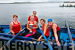 The Sneem senior ladies crew who took the Fr. PJ O'Sullivan perpetual Cup at the Valentia Regatta on Monday pictured here l-r; Elaine Murphy, Delia Murphy, Adrian Fitzgerald(cox), Caroline Casey & Helen Harvey.  Valentia took second and Sive in third place.