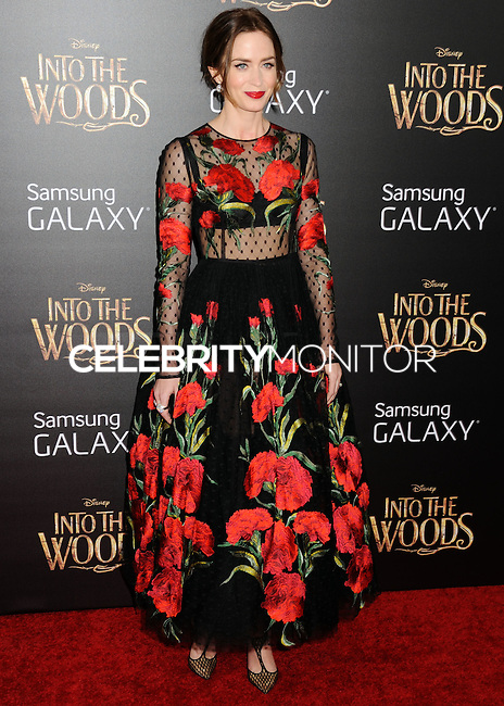 NEW YORK CITY, NY, USA - DECEMBER 08: Emily Blunt arrives at the World Premiere Of Walt Disney Pictures' 'Into The Woods' held at the Ziegfeld Theatre on December 8, 2014 in New York City, New York, United States. (Photo by Celebrity Monitor)