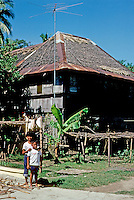 Philipppines: Agoo--old house. Photo '82.
