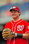 24 May 2009: Washington Nationals' outfielder Austin Kearns warms up prior to a game against the Baltimore Orioles at Nationals Park in Washington, DC. The Nationals rallied to defeat the Orioles 8-5 and salvage one win of their interleague series. Mandatory Credit: Ed Wolfstein Photo