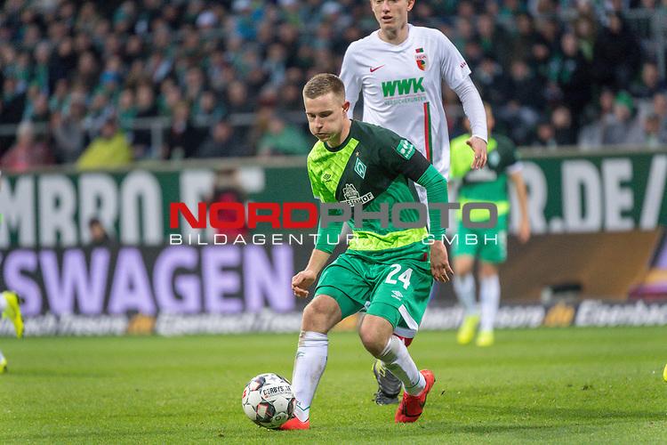 10.02.2019, Weser Stadion, Bremen, GER, 1.FBL, Werder Bremen vs FC Augsburg, <br /> <br /> DFL REGULATIONS PROHIBIT ANY USE OF PHOTOGRAPHS AS IMAGE SEQUENCES AND/OR QUASI-VIDEO.<br /> <br />  im Bild<br /> <br /> <br /> Johannes Eggestein (Werder Bremen #24)<br /> Foto © nordphoto / Kokenge