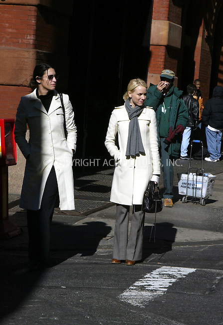 Naomi Watts and friend go shopping in the Soho district of New York City. February 11 2004. Please byline: ACE Pictures.   ..*PAY-PER-USE*      ....IMPORTANT: Please note that our old trade name, NEW YORK PHOTO PRESS (NYPP), is replaced by our new name, ACE PICTURES. New York Photo Press and ACE Pictures are owned by All Celebrity Entertainment, Inc.......All Celebrity Entertainment, Inc:  ..contact: Alecsey Boldeskul (646) 267-6913 ..Philip Vaughan (646) 769-0430..e-mail: info@nyphotopress.com