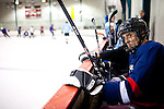 Former Minnesota Gov. Tim Pawlenty, and GOP presidential candidate, plays hockey in Des Moines, Iowa, July 22, 2011.