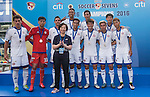 Leicester City are the Shield Final Winners of the Main tournament of the Leicester City are the Shield Final Winners of the Main tournament of the HKFC Citi Soccer Sevens on 22 May 2016 in the Hong Kong Footbal Club, Hong Kong, China. Photo by Lim Weixiang / Power Sport Images