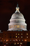 Capitol Dome at Night, Capitol Hill, National Mall, Washington DC
