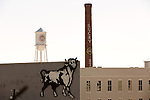 March 20, 2014. Durham, North Carolina.<br />  The American Tobacco Campus, housed in a renovated tobacco warehouse, is home to many businesses.<br />   Visiting locations important to the success of MERGE Records as the label gets ready for their 25th anniversary.