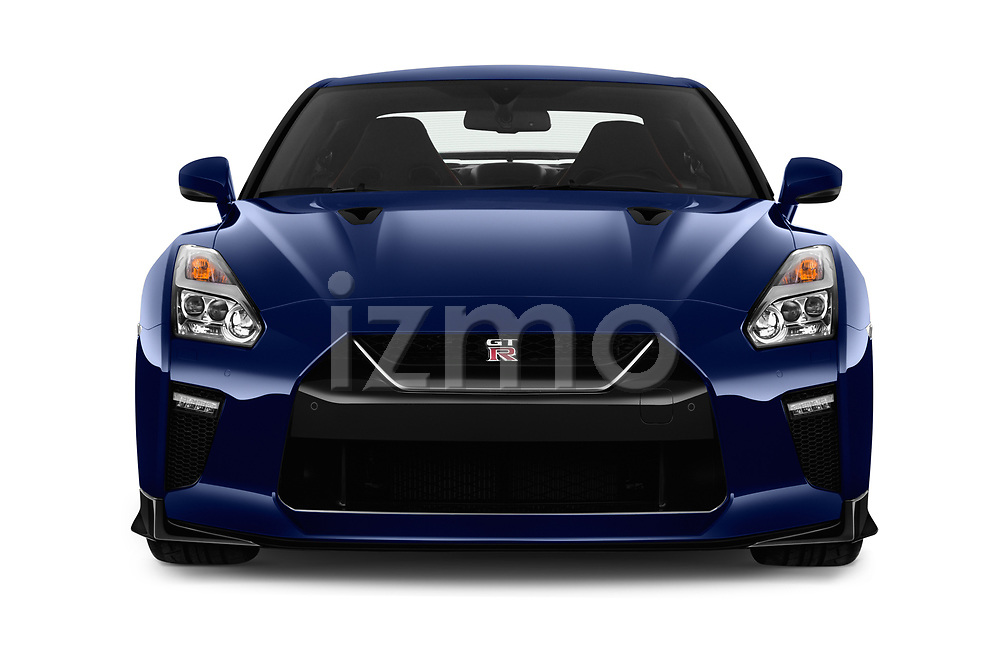 Car photography straight front view of a 2018 Nissan GT-R Track Edition 5 Door Coupe
