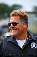Aug 18, 2017; Brainerd, MN, USA; Jimmy Johns CEO Jimmy John Liautaud in attendance during NHRA qualifying for the Lucas Oil Nationals at Brainerd International Raceway. Mandatory Credit: Mark J. Rebilas-USA TODAY Sports