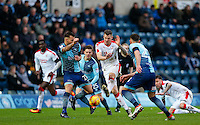 James Collins of Crawley Town battles through during the Sky Bet League 2 match between Wycombe Wanderers and Crawley Town at Adams Park, High Wycombe, England on 25 February 2017. Photo by Andy Rowland / PRiME Media Images.