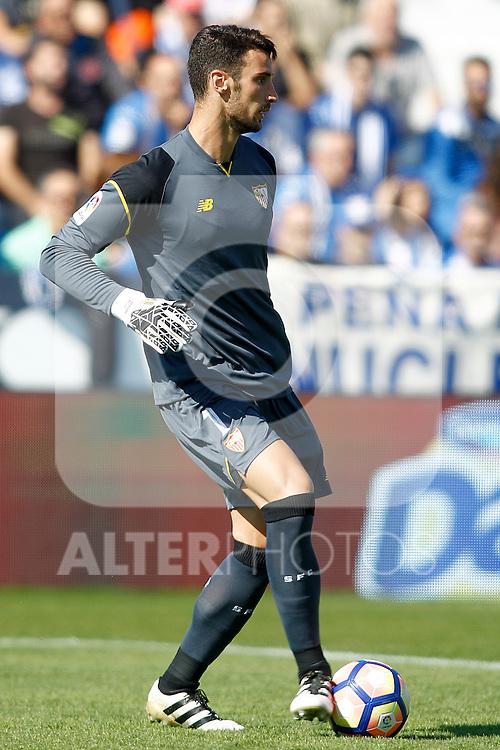 Sevilla FC's Sergio Rico during La Liga match. October 15,2016. (ALTERPHOTOS/Acero)