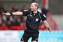 Referee David Phillips. - Stevenage v Tranmere Rovers - npower League 1 - Lamex Stadium, Stevenage - 17th December 2011  .© Kevin Coleman 2011 ... ....  ...  . .