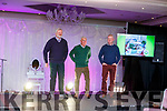 Eoin Liston, Ogie Moran and Sean Walsh ready to strut their moves on the catwalk at the Fashion Show in aid of Kerry Hospice in the Rose Hotel on Thursday night.