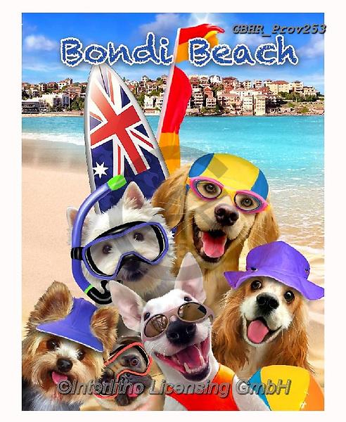 Howard, REALISTIC ANIMALS, REALISTISCHE TIERE, ANIMALES REALISTICOS, selfies,dogs,australia,bondi beach, paintings+++++,GBHRPROV253,#a#, EVERYDAY