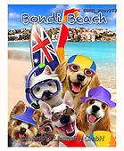 Howard, REALISTIC ANIMALS, REALISTISCHE TIERE, ANIMALES REALISTICOS, selfies,dogs,australia,bondi beach, paintings+++++,GBHRPROV253,#a#, EVERYDAY