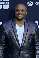 """LOS ANGELES - OCT 22:  IronE Singleton at the """"The Walking Dead"""" 100th Episode Celebration at the Greek Theater on October 22, 2017 in Los Angeles, CA"""