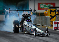 Mar 15, 2019; Gainesville, FL, USA; NHRA top alcohol dragster driver Tom Fox Jr during qualifying for the Gatornationals at Gainesville Raceway. Mandatory Credit: Mark J. Rebilas-USA TODAY Sports