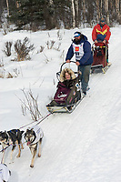 Tim Osmar w/Iditarider on Trail 2005 Iditarod Ceremonial Start near Campbell Airstrip Alaska SC