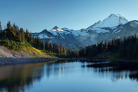Mount Baker rises above Iceberg Lake, North Cascades, Washington State