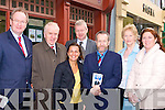 CAMPAIGNKelly on the campaine trail on Friday around Tralee with Sean were: L-R; Jim Finucane (FG), Jimm Denihan (TD), Grainne O'Sullivan, Sean walsh, Sean Kelly (Fine Gael), Mairead Fernane, and campaine manger Grace O'Donnell.......................
