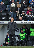 Mark Cooper Manager of Notts County watches the ball during the Sky Bet League 2 match between Notts County and Wycombe Wanderers at Meadow Lane, Nottingham, England on 28 March 2016. Photo by Andy Rowland.