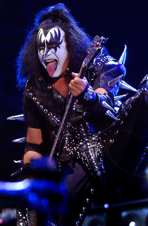 Gene Simmons of Kiss during their set at Wango Tango, Saturday at the Rose Bowl in Pasadena