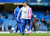 30th September 2017, Stamford Bridge, London, England; EPL Premier League football, Chelsea versus Manchester City; Eden Hazard of Chelsea during pre match warm up