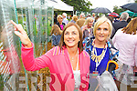 Annette Whyte (1982, Kerry Rose) pictured with her sister, Norma Whyte (Kenmare) at the unveiling of the Rose monument in Tralee Town Park on Thursday.