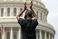 Protestors gather at the United States Capitol in Washington D.C., U.S., on Wednesday, June 3, 2020 after George Floyd died in police custody in Minnesota on May 25, 2020.  Credit: Stefani Reynolds / CNP/AdMedia
