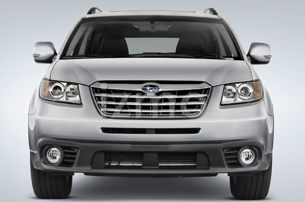 Straight front view of a 2008 Subaru Tribeca SUV