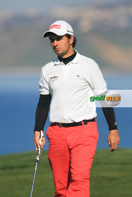 Jordi Garcia (ESP) on the 18th on the 1st Day of the 2012 Sicilian Open at Verdura Golf and Spa Resort...(Photo Jenny Matthews/www.golffile.ie)