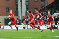 O's Joe Widdowson equalises and celebrates during Leyton Orient vs Walsall, Sky Bet EFL League 2 Football at The Breyer Group Stadium on 12th October 2019