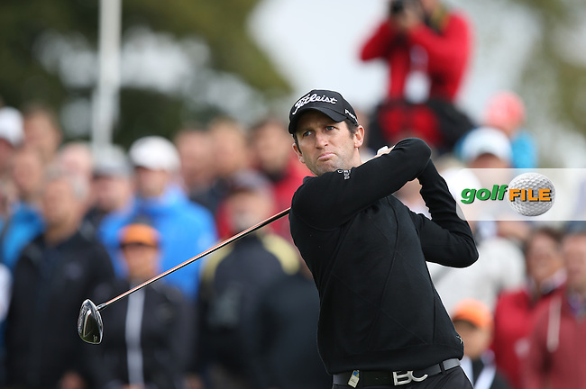 Gregory Bourdy (FRA) starts the Final Round of the D&D Real Czech Masters 2014 from the Albatross Golf Resort, Vysoky Ujezd, Prague. Picture:  David Lloyd / www.golffile.ie