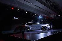 NEW YORK, NY - APRIL 12: The 2018 Jeep Cherokee Trackhawk is displayed at the New York International Auto Show, at the Jacob K. Javits Convention Center on April 12, 2017 in Manhattan, New York. Photo by VIEWpress/Eduardo MunozAlvarez