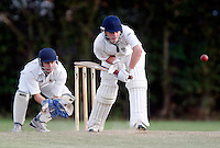 F Frazer bats for North London during the Middlesex County League Division three game between Wembley and North London at Vale Farm, Wembley on Sat August 6, 2011