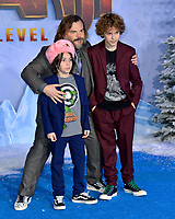 """LOS ANGELES, USA. December 10, 2019: Jack Black ,Thomas David Black & Samuel Jason Black at the world premiere of """"Jumanji: The Next Level"""" at the TCL Chinese Theatre.<br /> Picture: Paul Smith/Featureflash"""