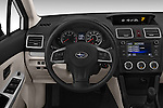 Car pictures of steering wheel view of a 2015 Subaru Impreza 2.0I Auto 4 Door Hatchback Steering Wheel