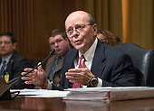 David J. Kautter, Acting Commissioner, Internal Revenue Service (IRS) and Assistant United States Secretary of the Treasury for Tax Policy testifies before the United States Senate Committee on Finance on the President's Fiscal Year 2019 budget on Capitol Hill in Washington, DC on Wednesday, February 14, 2018.<br /> Credit: Ron Sachs / CNP