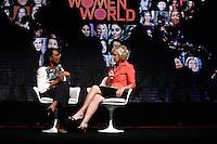 ATENÇÃO EDITOR: FOTO EMBARGADA PARA VEÍCULOS INTERNACIONAIS. SAO PAULO, SP, 04 DE DEZEMBRO DE 2012. EVENTO WOMEN IN THE WORLD. a ex secretaria de estado  dos Estados Unidos, Condoleezza Rice e a editora chefe do Newsweek Tina BRown, durante o evento Women In the world promovido pela marca Wella. Criado pela renomada jornalista americana Tina Brown, da revistaNewsweek, o encontro internacional contará histórias inspiradoras de mulheres de culturas e origens diferentes que lutam contra a injustiça em seus países e buscam soluções para mudar sua realidade. O evento aconteceu na Casa Fasano, na tarde desta terça feira na zona sul da capital paulista. FOTO ADRIANA SPACA - BRAZIL PHOTO PRESS
