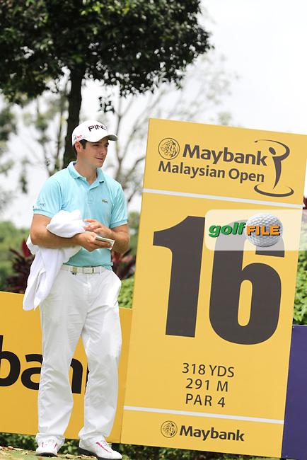Julian Quesne (FRA) on the 16th during the Pro-Am of the Maybank Malaysian Open 2012 at Kuala Lumpur Golf and Country Club, Kuala Lumpur, Malaysia...(Photo Jenny Matthews/www.golffile.ie)