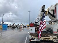 Daytona Speedway staging site  before 2019 Hurricane Dorian in Daytona, Fla. on September 1, 2019.