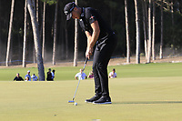 Danny Willett (ENG) birdie putt on the 16th green during Sunday's Final Round of the 2018 Turkish Airlines Open hosted by Regnum Carya Golf &amp; Spa Resort, Antalya, Turkey. 4th November 2018.<br /> Picture: Eoin Clarke | Golffile<br /> <br /> <br /> All photos usage must carry mandatory copyright credit (&copy; Golffile | Eoin Clarke)