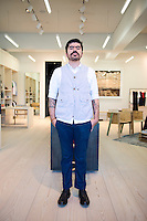 Daniel Islas (staff) at Robert Hurch´s Silver Deer store, Santa Fe, Mexico City.
