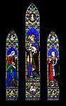 Church of Saint Edmund, Bromeswell, Suffolk, England, UK stained glass window memorial to Caroline King