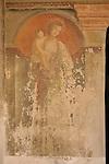 A 15th century fresco of Mary in S. Maria delle Grazie Chiostro, a convent in Gravedona, a town on Lake Como, Italy.