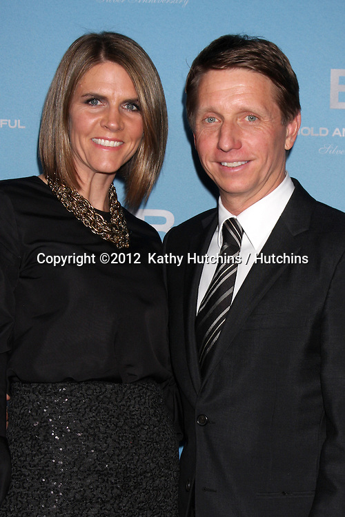 LOS ANGELES - MAR 10:  Colleen Bell; Brad Bell arrives at the Bold and Beautiful 25th Anniversary Party at the Perch Resturant on March 10, 2012 in Los Angeles, CA
