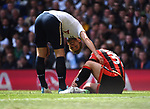 Harry Kane-Tottenham checks on Jack Wilshire-Bournemouth during the English Premier League match at the White Hart Lane Stadium, London. Picture date: April 15th, 2017.Pic credit should read: Chris Dean/Sportimage